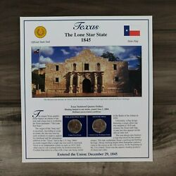 2004 Texas State Quarter Pandd Postal Society Stamped Commemorative Page