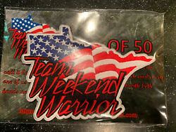 Team Weekend Warrior Logo Patch Rwb Sold Out Morale Patch