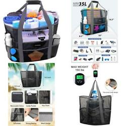 Mesh Beach Bags And Totes For Women Max Capacity 35L 150Lbs Durable Toy Tote Ba $23.66