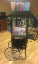 Gold Metal Antique Deluxe 60 Special Popcorn Machine W/ 11 Pc. Containers
