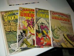 Dc Comic Book Silver Age 1958 Kirby Challengers Of The Unknown 5 Lot 2341011