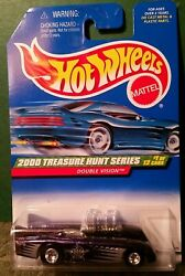 Hot Wheels Mint On Card 2000 Treasure Hunt Series Double Vision With Real Riders