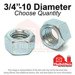 3/4-10 Grade 5 Finished Hex Nuts Zinc Plated Coarse Thread Pick Quantity