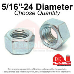 5/16-24 Grade 5 Finished Hex Nuts Zinc Plated Fine Thread Pick Quantity