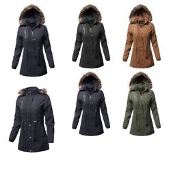 Fashionoutfit Womenand039s Casual Vintage Style Faux Fur Lining Long Jacket