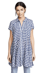 Free People New Spring Love Plaid Tunic