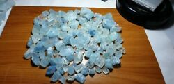 770-gm Natural Sky Colour Aquamarine Rough Best For Jewelry From Shigar Pakistan