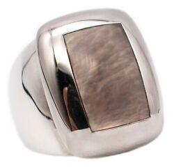 And Paris 18 Kt Gold Babylon Ring With Gray Nacre Neat With Box
