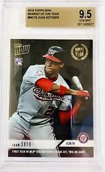 2018 Topps Now Juan Soto Rc Moy 1st Teen W/ 4 Hits 2 Hr Game Low Pr/861 Bgs 9.5