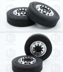 1/14 Scale Rc Tractor Truck Tires For Tamiya Scania Man Volvo R470 R620 V8 Benz