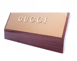 GUCCI Store Display sign - Mahogany?