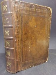 1708 King James Bible. Lg Folio. 5 Double Page Maps. Psalms Of David In Meeter