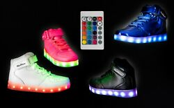 LED Light Up Shoes Sneaker Flashing for Girls Boys Kids and Youth Remote NIB 003 $23.96