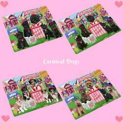Carnival Kissing Booth Dog Cat Tempered Glass Cutting Board Pet Lovers Gift