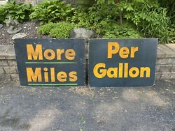 Vtg Gas Oil Service Station Dealer Mobil Sign Display Store Shell Esso Texaco 2