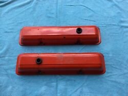 Gm Vintage Oem Small Block Chevy Valve Covers 265 283 307 327 350 400 Ci