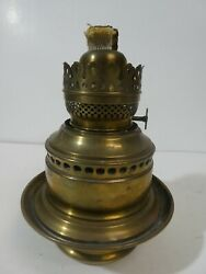 Antique Adams And Westlake Brass Railroad Oil Lamp Lantern With Double Wick Burner