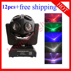 1212w Rgbw 4 In 1 Football Led Beam Moving Head Stage Light 12pcs Free Shipping