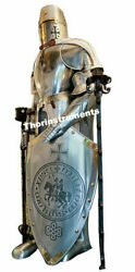 Full Suit Of Armor W/shield Collectible Plate Armor Medieval Larp Suit