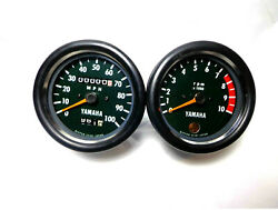 1972 And 1973 Yamaha Dt2 Dt3 Tachometer And Speedometer Nos Style