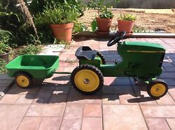 John Deere 7410 Pedal Tractor With Trailer