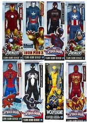 Official Marvel Avengers Titan Hero Spiderman Iron Action Figure Toy Gift Kids