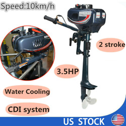 2 Stroke Outboard Motor 3.5 Hp Engine Fishing Boat Motor Water Cooling System Us