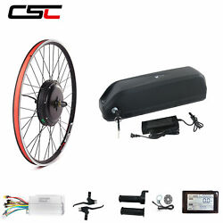 Electric Bike Conversion Kit With Battery Pack 20-29 Inch 700c 48v 1000w 1500w