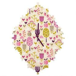 Deny Designs Wendy Kendall Retro Orchard Baroque Clock, Small