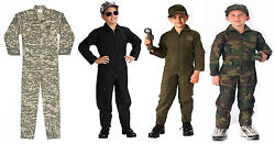 Kidand039s Camo And Solid - Us Air Force Style Military Flight Suit Rothco