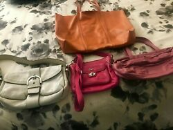 Leather Bags Coach DKNY Banana Republic Vintage lot of 4 $59.00