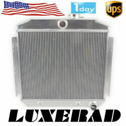 For 1955 1956 1957 Chevy Bel Air Del Ray 150/210 L6 3 Row Aluminum Radiator