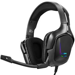 Wired Gaming Headset Noise Canceling Headphone With Mic For Pc Ps4 Xbox One Ps3