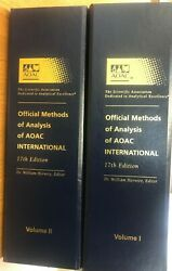 Official Methods Of Analysis Of Aoac International Vol 1and2 17th Editions