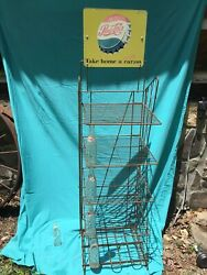 Vintage Pepsi Rack Double Sided Sign