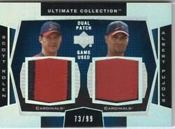 Mlb Card 2003 Scott Rolen Albert Pujols Ud Ultimate Collection Patch 73/99