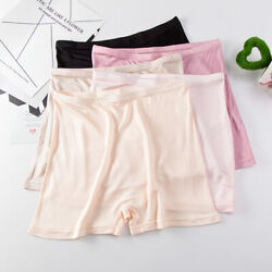 3pcs Womenand039s Real Silk Underwear Safety Pants Super Cozy Boxer Briefs Knickers