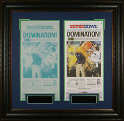 Seattle Seahawks Super Bowl Domination Front Page And Press Plate
