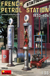 French Petrol Station 1930-40s Buildings And Accessories 1/35 Miniart 35616