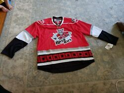 2 Signed Albany River Rats Authentic Ahl Hockey Jersey And Shirt Large