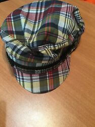 Vintage Beatles The Ringo Cap Hat Plaid Small New Without Tags