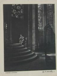 Yousef Karsh Original Photo, 1952 - Signed. Christmas Card - Chartres Cathedral