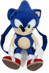 Jumbo Sonic the Hedgehog Plush Figure Stuffed Doll Backpack Toy Gift Official  $28.99