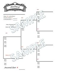 Family Tree Charts Genealogy **DIGITAL PDF**CHOICES VARY READ DESCRIPTION**