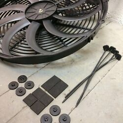 1962 - 1964 Ford Galaxie 2x 16 Inch Fan Cooling Kit Push Pull Engine Bay