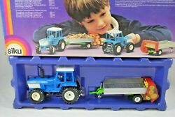 132 Rare Old Collectible Siku 3754 Ford Tw-35 Farm Tractor And Muck Spreader Mib