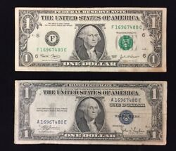 1935 Silver Certificate And 2003 1 Dollar Bill Matching Serial Numbers 16967480