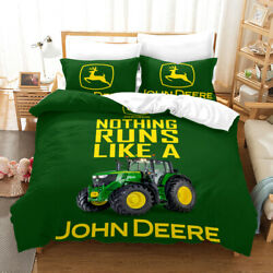 Agriculture Tractor Bedding Set Duvet Cover And Pillowcase Twin Full Queen King