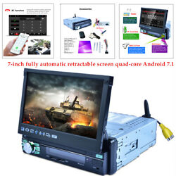 Single 1din 7 Android Gps Flip Car Stereo Radio Mp5 Player Touch Screen Wifi