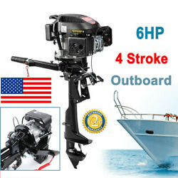 Hangkai Outboard Engine Boat Motor 6 Hp 4 Stroke 2500rpm Air Cooling System Sale